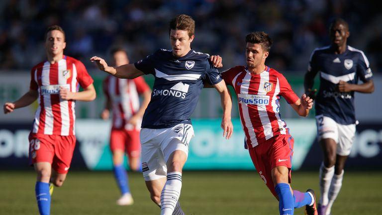 Atletico Madrid were defeated 1-0 by Melbourne Victory on Sunday