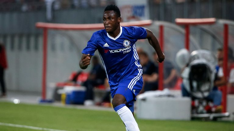 VELDEN, AUSTRIA - JULY 20: Baba Rahman of Chelsea in action during the friendly match between WAC RZ Pellets and Chelsea F.C. at Worthersee Stadion on July