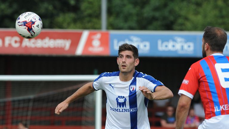 Ched Evans scored for Chesterfield at Ilkeston on his first pre-season appearance