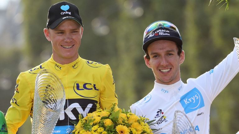 Chris Froome (left) and Adam Yates (right) both excelled at the Tour de France