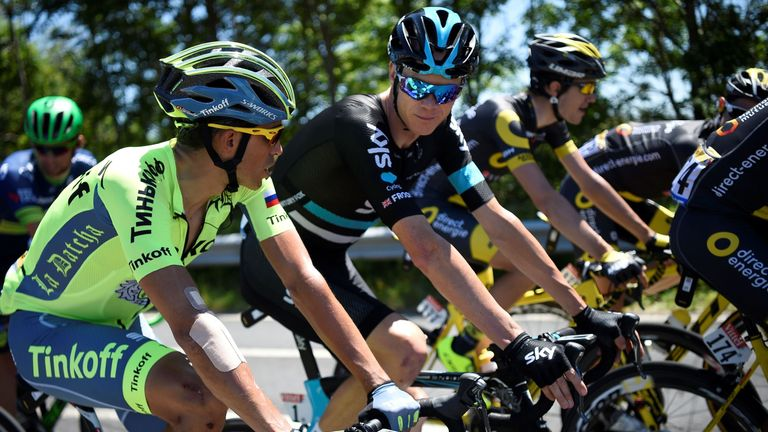 Contador (left) has historically got the better of Froome (right) at the Vuelta
