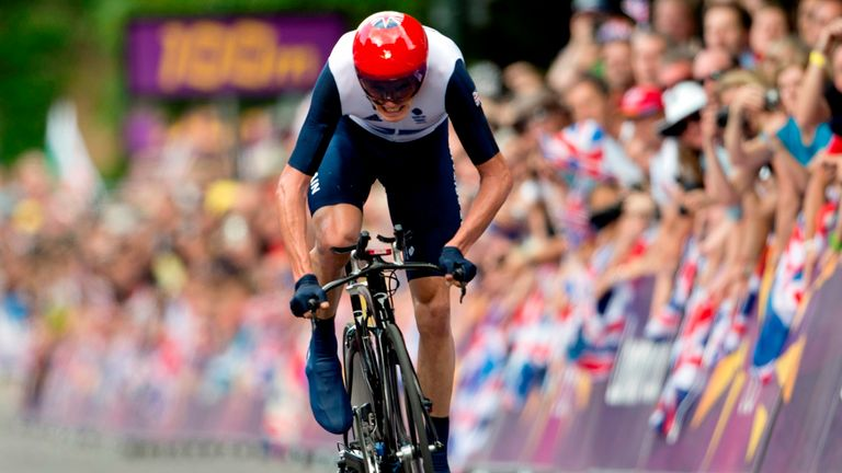 Froome finished third in the Olympic time trial at London 2012