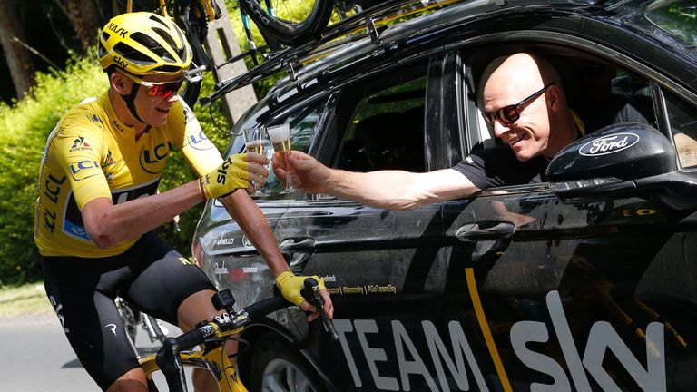 Sir Dave Brailsford (R), pictured here with Chris Froome, has been a key component of Team Sky's success
