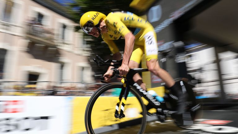 Froome won one of the two time trials at the Tour de France