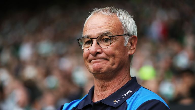 GLASGOW, SCOTLAND - JULY 23: Leicester City manager Claudio Raneri looks on during the Pre Seanon Friendly match between Cetlic and Leicester City at Celti