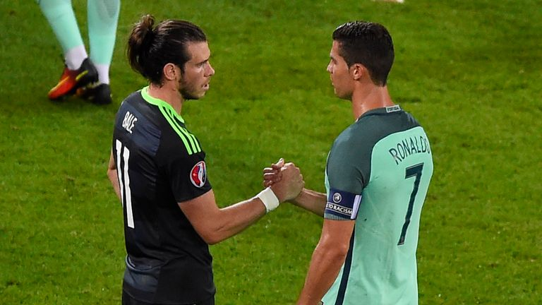 Gareth Bale and Cristiano Ronaldo faced off in the Euro 2016 semi-final