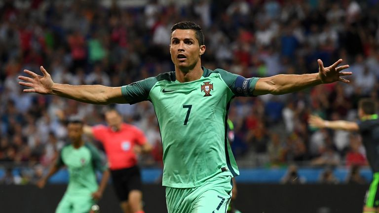 Cristiano Ronaldo reaches latest landmark by equalling Michel Platini's goalscoring record at Euros