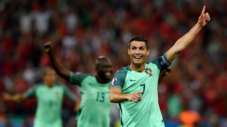 Cristiano Ronaldo of Portugal celebrates