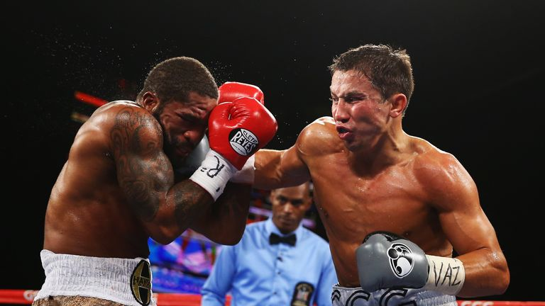 Curtis Stevens (left) unsuccessfully contested the world title against Gennady Golovkin