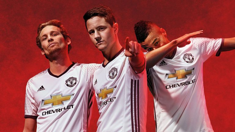 d2c61b7dea8 Manchester United reveal white third kit to be worn for first time ...