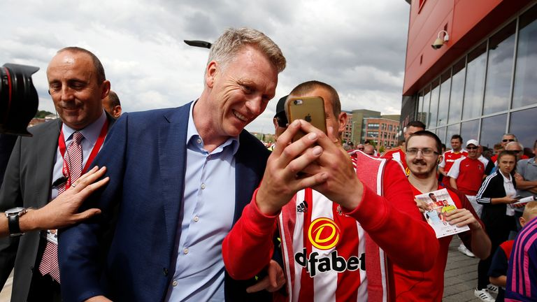 New Sunderland boss David Moyes meets fans at the New York Stadium ahead of a pre-season friendly with Rotherham