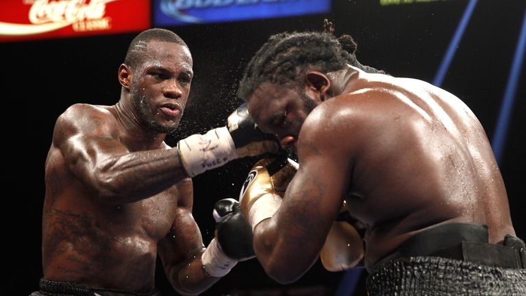 Stiverne (R) lost the WBC world title to Deontay Wilder in 2015
