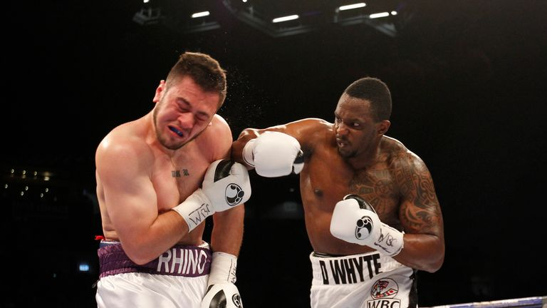 Whyte was the only one to land any threatening blows