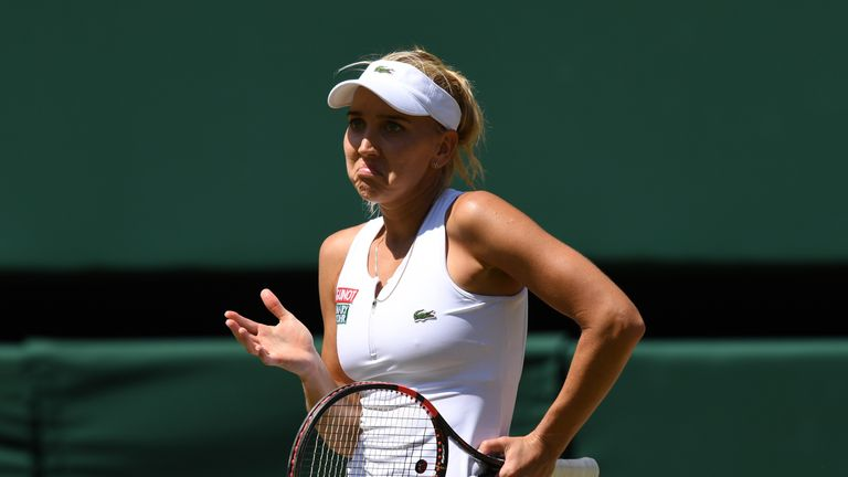 Elena Vesnina's journey was ended by Serena Williams