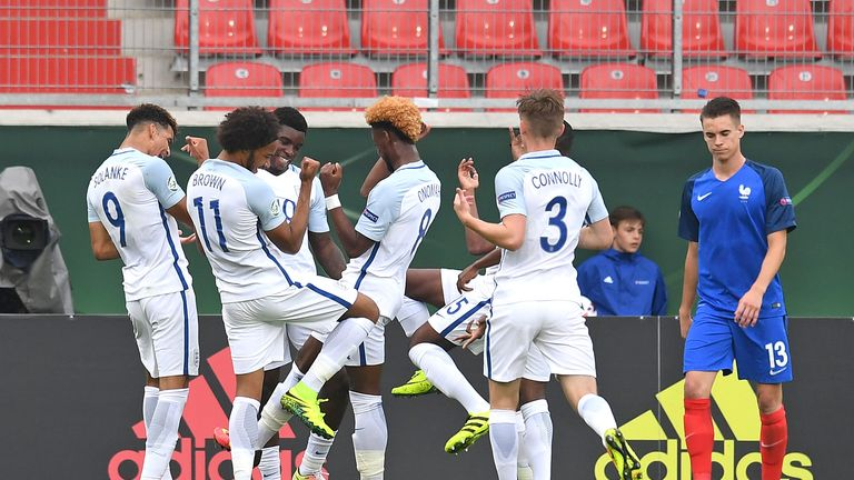 Solanke's goal doubled England's lead after a Clement Michelin own goal