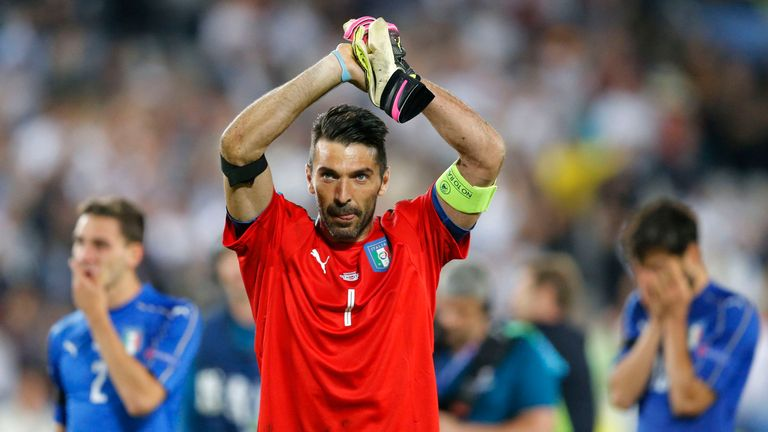 Gianluigi Buffon and Italy now depart Euro 2016