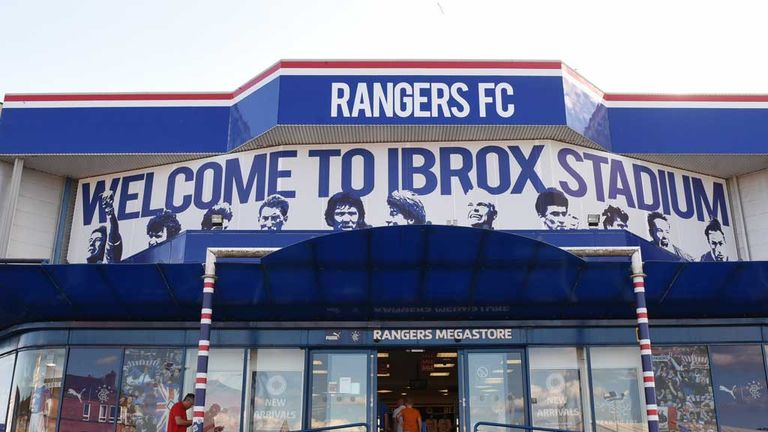 A general view of the Ibrox stadium megastore
