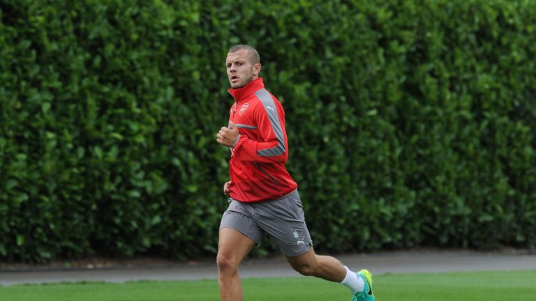 Jack Wilshere is back in pre-season training with Arsenal