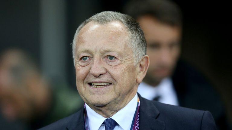 Olympique Lyonnais's president Jean-Michel Aulas