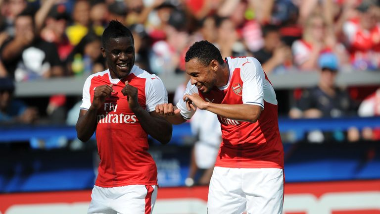 Campbell and Francis Coquelin celebrate