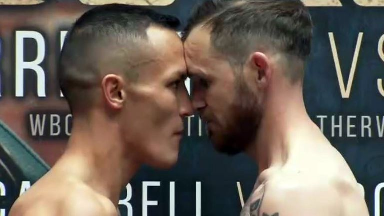 Josh Warrington and Patrick Hyland go head to head