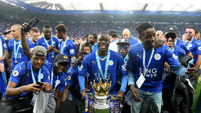 Kante helped Leicester win the Premier League title