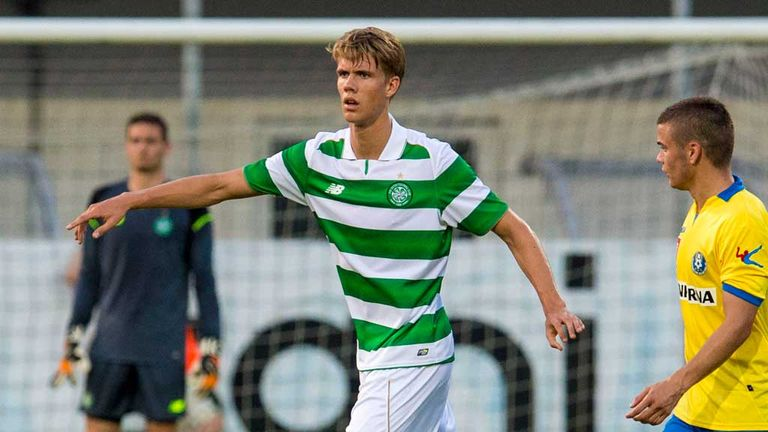Kristoffer Ajer was involved in the pre-season friendly against Celje