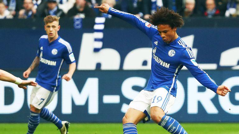 Schalke winger Leroy Sane (R) will not be joining Bayern Munich