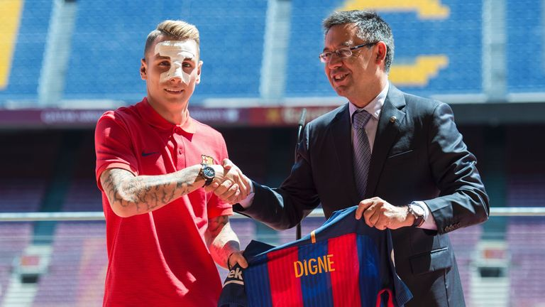 Lucas Digne has also completed a move to Barcelona