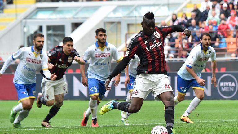 Mario Balotelli spent last season on loan at AC Milan