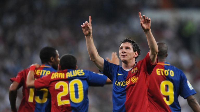 Guardiola used Lionel Messi as a false nine for the first time in 2009