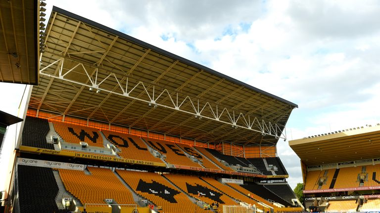 WOLVERHAMPTON, ENGLAND - AUGUST 11:  A general view of Molineux before the Capital One Cup First Round match between Wolverhampton Wanderers and Newport Co