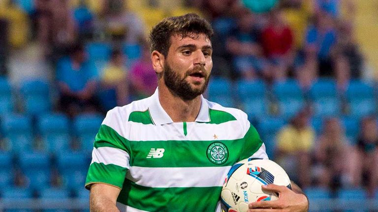 Nadir Ciftci in action for Celtic during their pre-season friendly in Slovenia