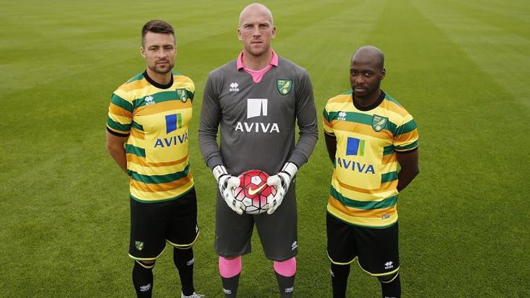 Norwich City Errea third kit for 2015/16 season