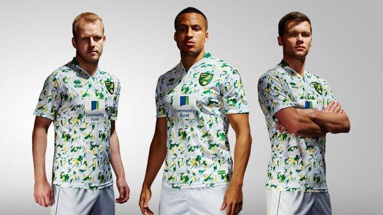 Norwich City Errea third kit for 2016/17 season