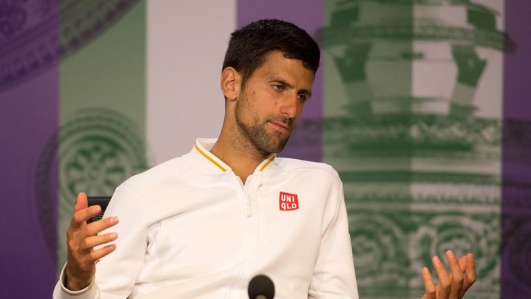 Djokovic looked drained and exhausted during his press conference