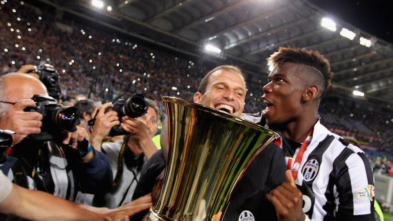 Juventus boss Massimiliano Allegri has suggested Paul Pogba could be taking a step back if he returns to Man Utd