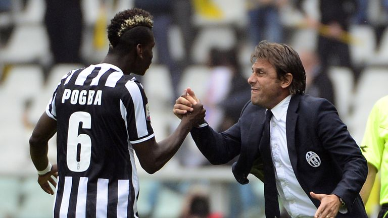 Antonio Conte, who worked with Paul Pogba at Juventus, was keen to highlight the fact fifth-placed Manchester United spent £89m on the player