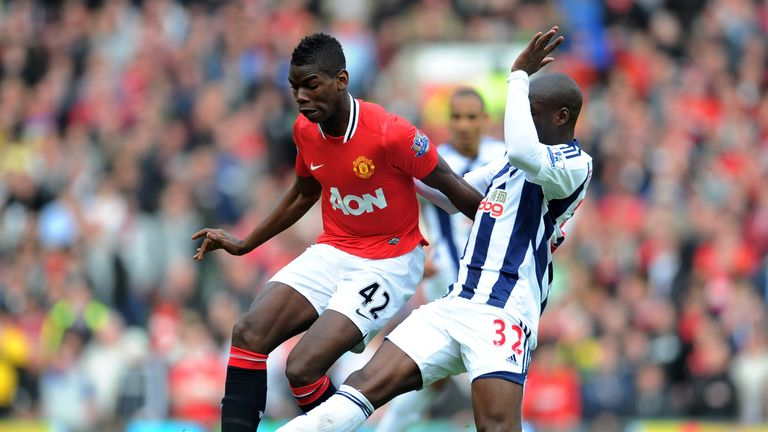 Paul Pogba left Manchester United on a free transfer in 2012