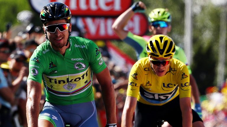 Peter Sagan (left) and Chris Froome (right) were among the stars of the Tour de France