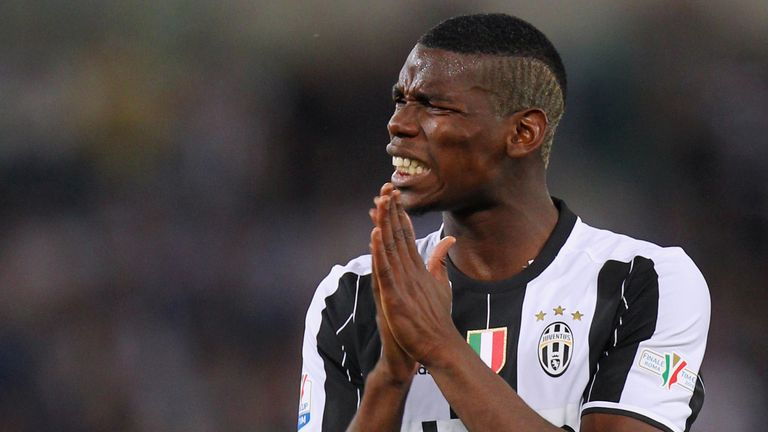 ROME, ITALY - MAY 21:  Paul Pogba of Juventus FC reacts during the TIM Cup final match between AC Milan and Juventus FC at Stadio Olimpico on May 21, 2016