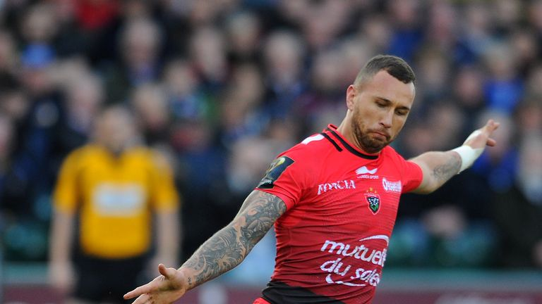 Quade Cooper in action for Toulon against Bath Rugby