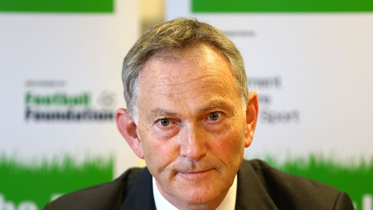 Premier League Chief Executive Richard Scudamore addresses the media during the Premier League and the FA Facilities Fund Launch