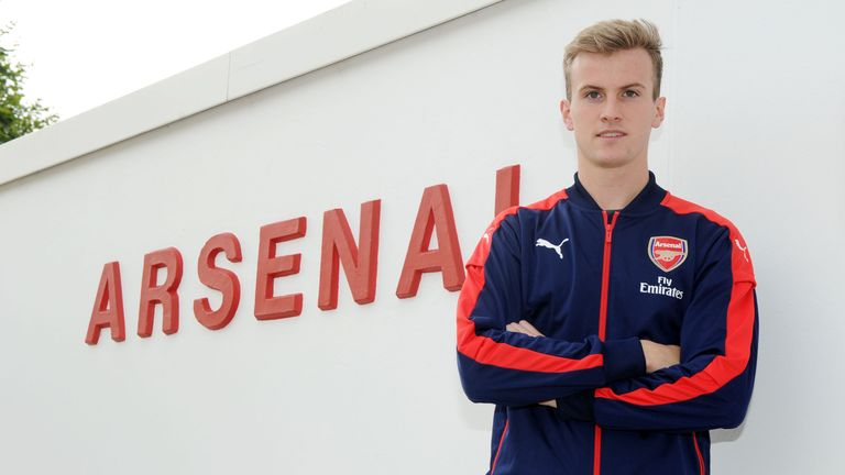 Arsenal unveil new signing Rob Holding at London Colney on July 21, 2016 in St Albans, England. (Photo by Stuart MacFarlane/Arsenal FC via Getty Images)