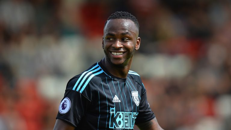 Saido Berahino of West Bromwich Albion smiles