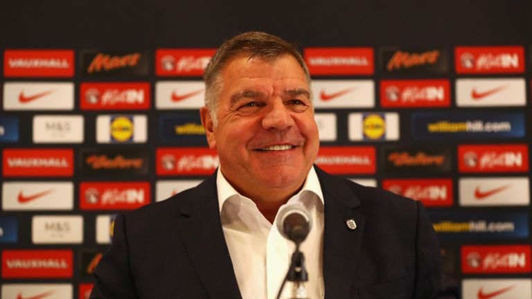 Newly appointed England manager Sam Allardyce attends a press conference at St. George's Park