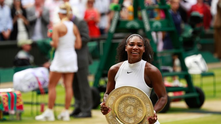 Serena Williams claimed the Wimbledon title earlier this year