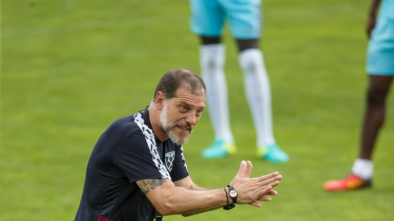 BAD TATZMANNSDORF, AUSTRIA - JULY 19: Head Coach Slaven Bilic reacts during the West Ham United training session at Bad Tatzmannsdorf on July 19, 2016 in B