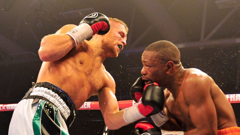 Terry Flanagan lands an uppercut on Mzonke Fana