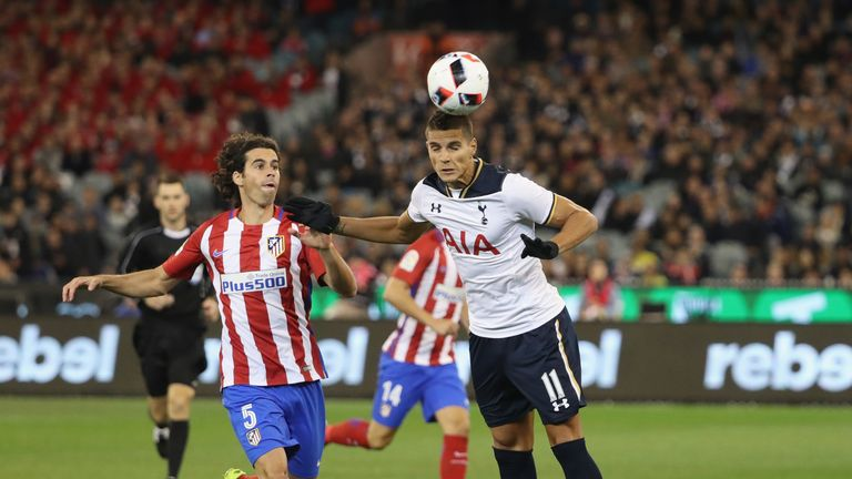 Action from the 2016 International Champions Cup Australia match between Tottenham Hotspur and Atletico Madrid